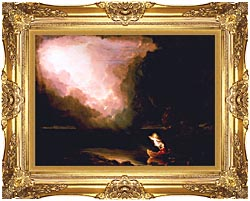 Thomas Cole The Voyage Of Life Old Age canvas with Majestic Gold frame