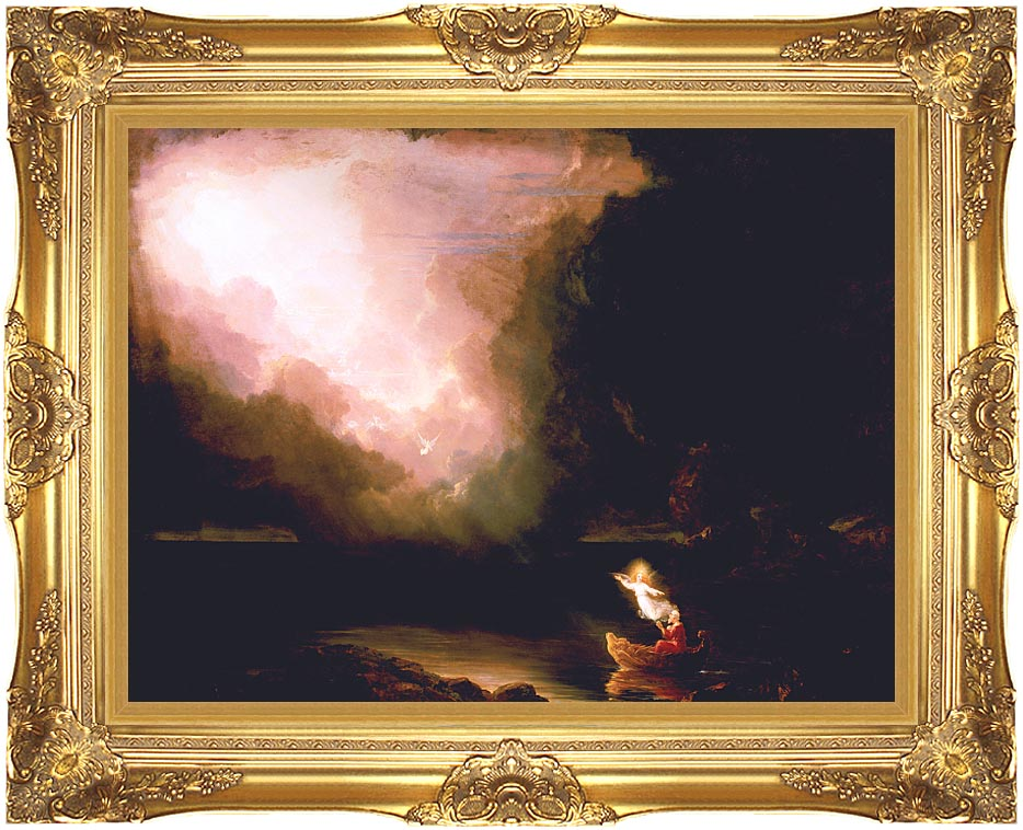 Thomas Cole The Voyage of Life: Old Age with Majestic Gold Frame