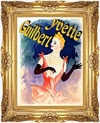 Jules Cheret Yvette Guilbert Au Concert Parisien canvas with Majestic Gold frame