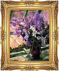 Mary Cassatt Lilacs In The Window canvas with Majestic Gold frame