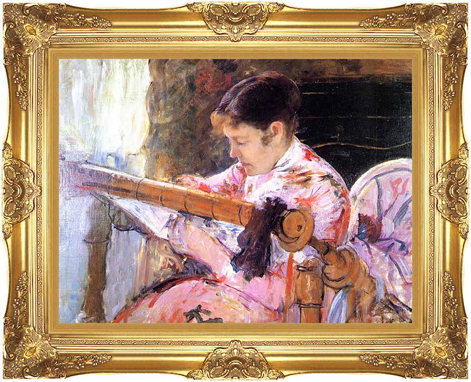 Mary Cassatt Lydia at the Tapestry Loom with Majestic Gold Frame