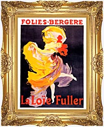 Jules Cheret Folies Bergere La Loie Fuller canvas with Majestic Gold frame