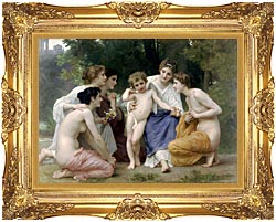 William Bouguereau Admiration canvas with Majestic Gold frame