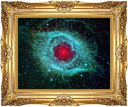 Courtesy Nasa Jpl Caltech Comets Kick Up Dust In Helix Nebula canvas with Majestic Gold frame