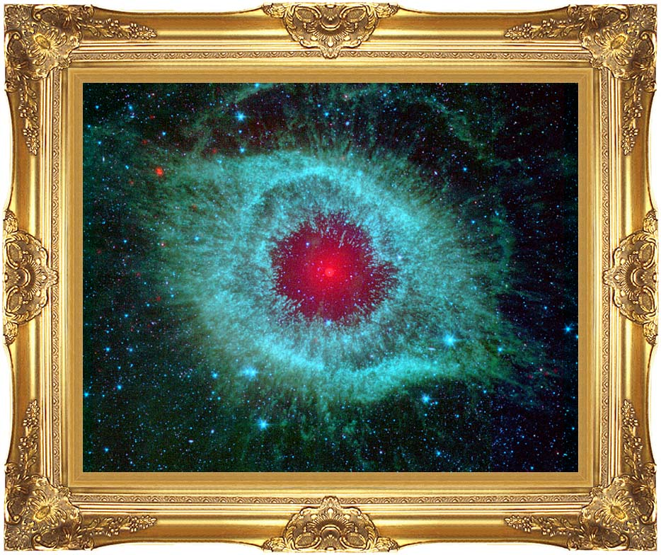 Courtesy Nasa Jpl Caltech Comets Kick Up Dust in Helix Nebula with Majestic Gold Frame