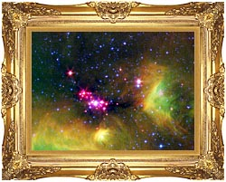 Courtesy Nasa Jpl Caltech Stars In Serpens canvas with Majestic Gold frame