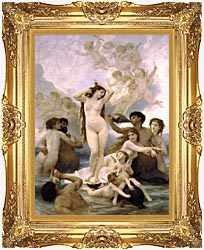 William Bouguereau The Birth Of Venus canvas with Majestic Gold frame