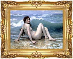William Bouguereau The Wave canvas with Majestic Gold frame