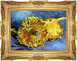 Vincent Van Gogh Two Sunflowers canvas with Majestic Gold frame