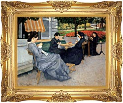 Gustave Caillebotte Portraits In The Countryside canvas with Majestic Gold frame