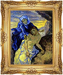 Vincent Van Gogh Pieta canvas with Majestic Gold frame