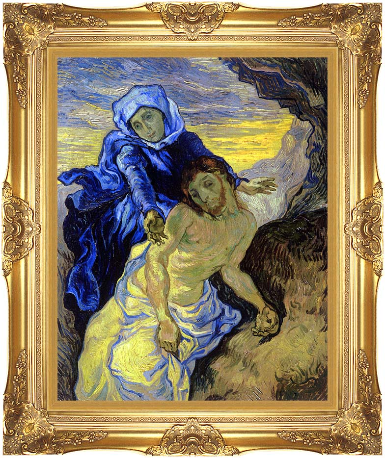 Vincent van Gogh Pieta with Majestic Gold Frame