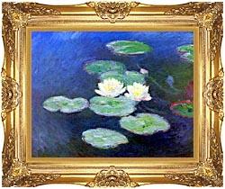 Claude Monet Nympheas Effet Du Soir canvas with Majestic Gold frame