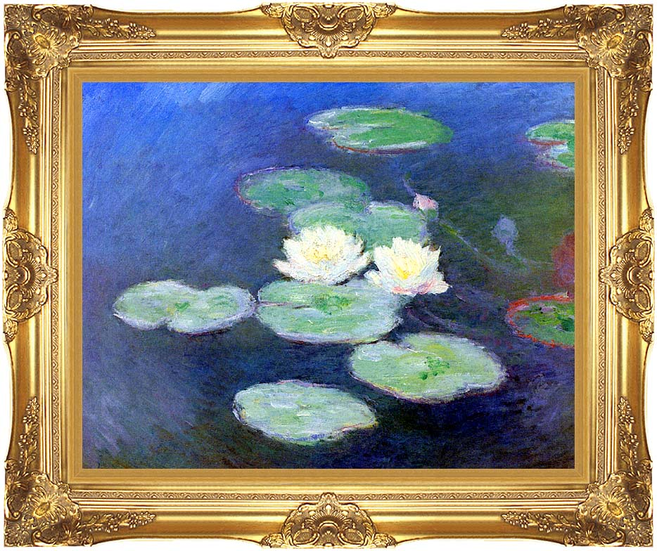 Claude Monet Nympheas, Effet du Soir with Majestic Gold Frame