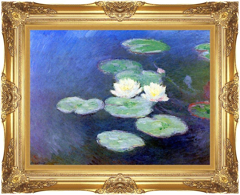 Claude Monet Nympheas, Effet du Soir (detail) with Majestic Gold Frame