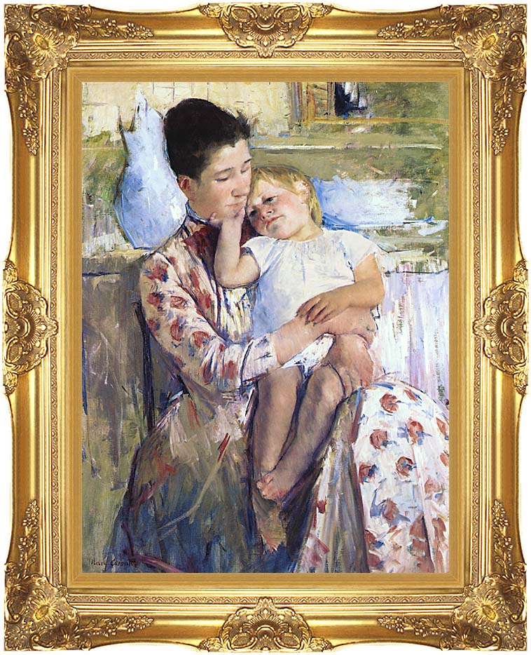 Mary Cassatt Mother and Child with Majestic Gold Frame