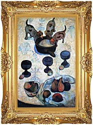 Paul Gauguin Still Life With Three Puppies canvas with Majestic Gold frame
