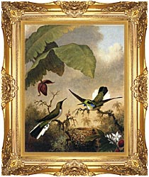 Martin Johnson Heade Black Eared Fairy canvas with Majestic Gold frame