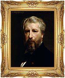 William Bouguereau Portrait Of The Artist William Bouguereau canvas with Majestic Gold frame