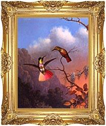 Martin Johnson Heade Hooded Visorbearer canvas with Majestic Gold frame