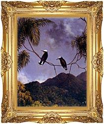 Martin Johnson Heade Snowcap Hummingbirds canvas with Majestic Gold frame