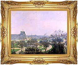 Camille Pissarro The Tuilieries Gardens canvas with Majestic Gold frame
