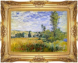 Claude Monet Vetheuil canvas with Majestic Gold frame