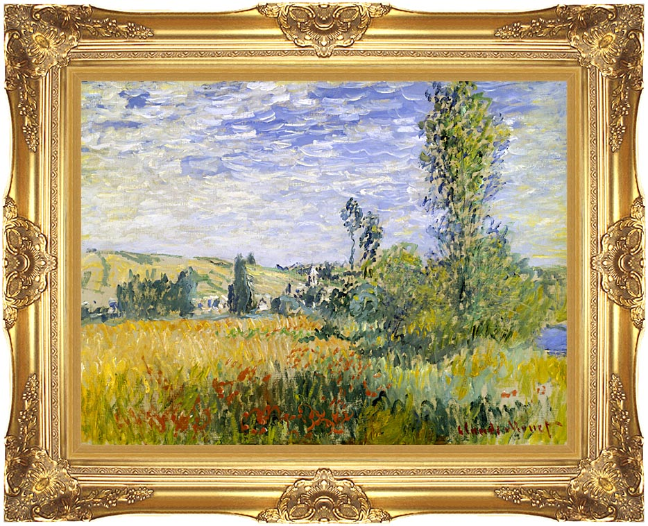 Claude Monet Vetheuil with Majestic Gold Frame
