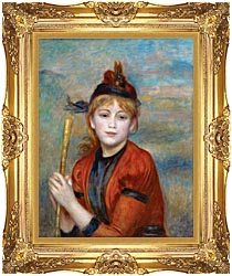 Pierre Auguste Renoir The Rambler canvas with Majestic Gold frame
