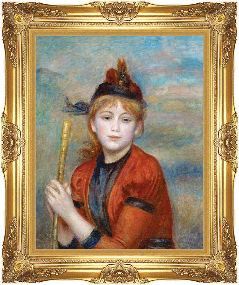 Pierre Auguste Renoir The Rambler with Majestic Gold Frame