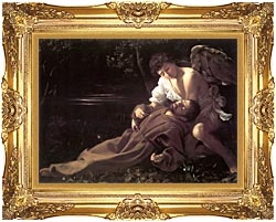 Michelangelo Merisi Da Caravaggio St Francis In Ecstasy canvas with Majestic Gold frame