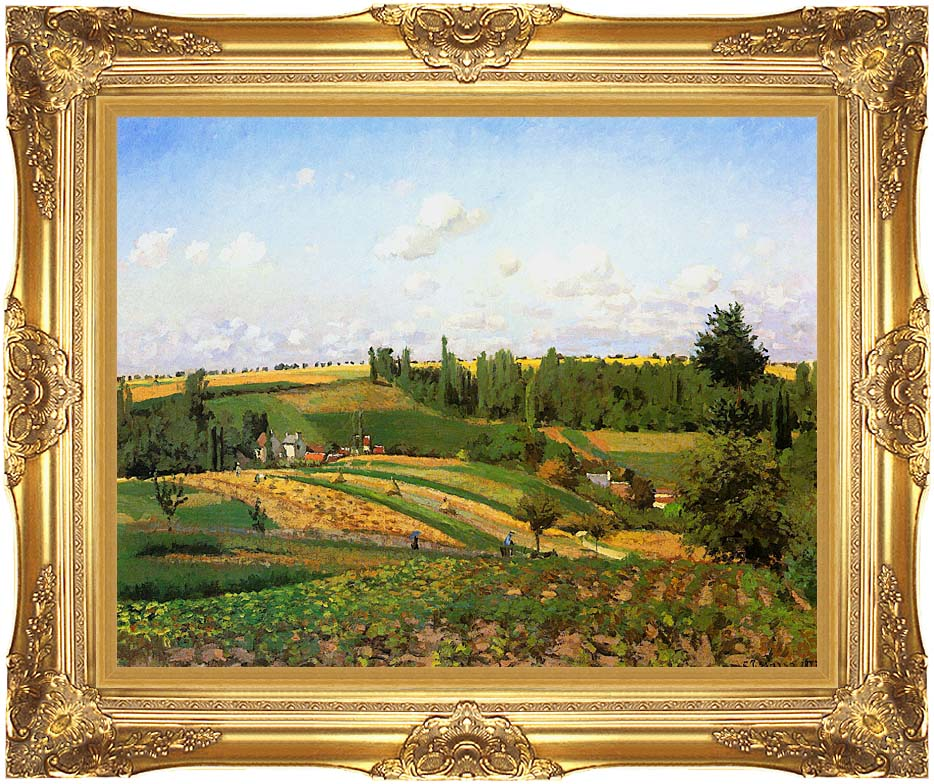 Camille Pissarro Harvest Landscape at Pontoise with Majestic Gold Frame