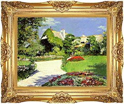 Gustave Caillebotte Thatched Cottage At Trouville canvas with Majestic Gold frame