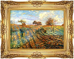 Camille Pissarro Hoarfrost canvas with Majestic Gold frame