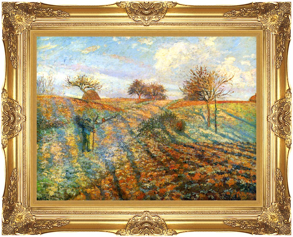 Camille Pissarro Hoarfrost with Majestic Gold Frame