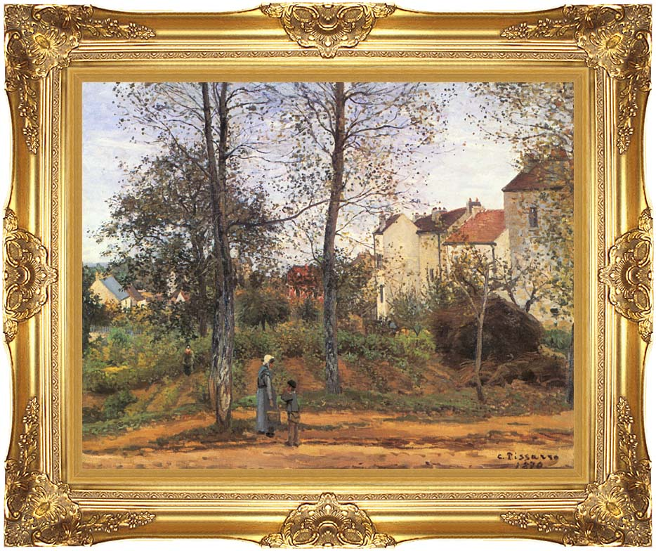 Camille Pissarro Landscape at Louveciennes with Majestic Gold Frame