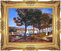 Pierre Auguste Renoir Bridge At Argenteuil canvas with Majestic Gold frame