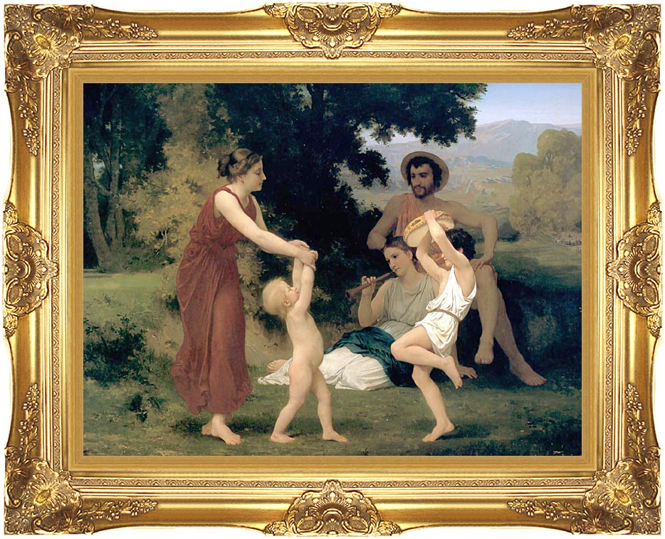William Bouguereau Pastoral with Majestic Gold Frame