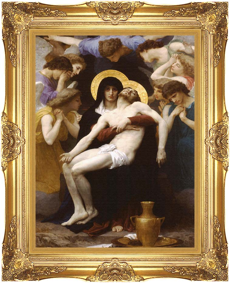 William Bouguereau Pieta 1876 with Majestic Gold Frame