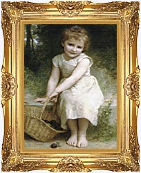 William Bouguereau Plums canvas with Majestic Gold frame