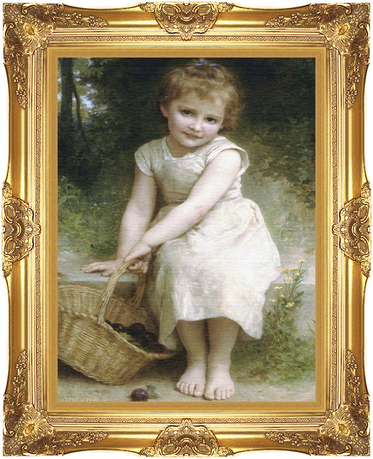 William Bouguereau Plums with Majestic Gold Frame