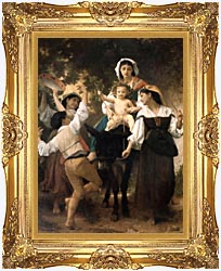 William Bouguereau Return From The Harvest canvas with Majestic Gold frame