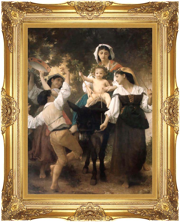 William Bouguereau Return from the Harvest with Majestic Gold Frame