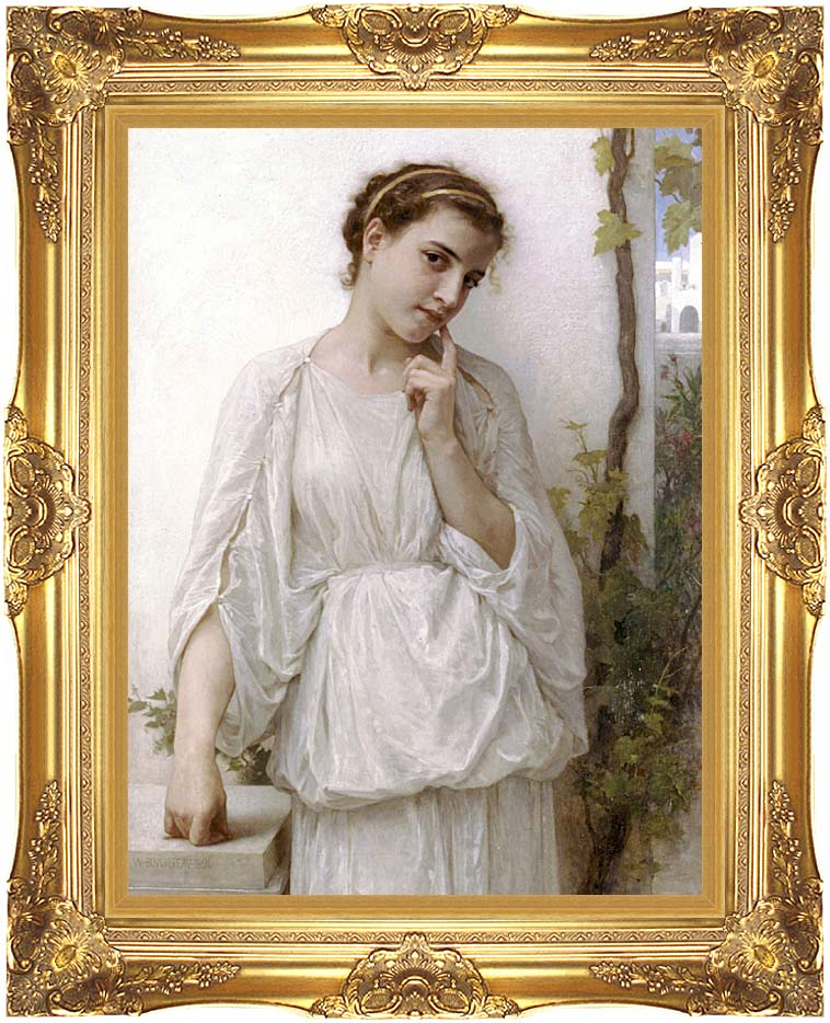 William Bouguereau Revery with Majestic Gold Frame