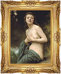 William Bouguereau Spring Breeze canvas with Majestic Gold frame