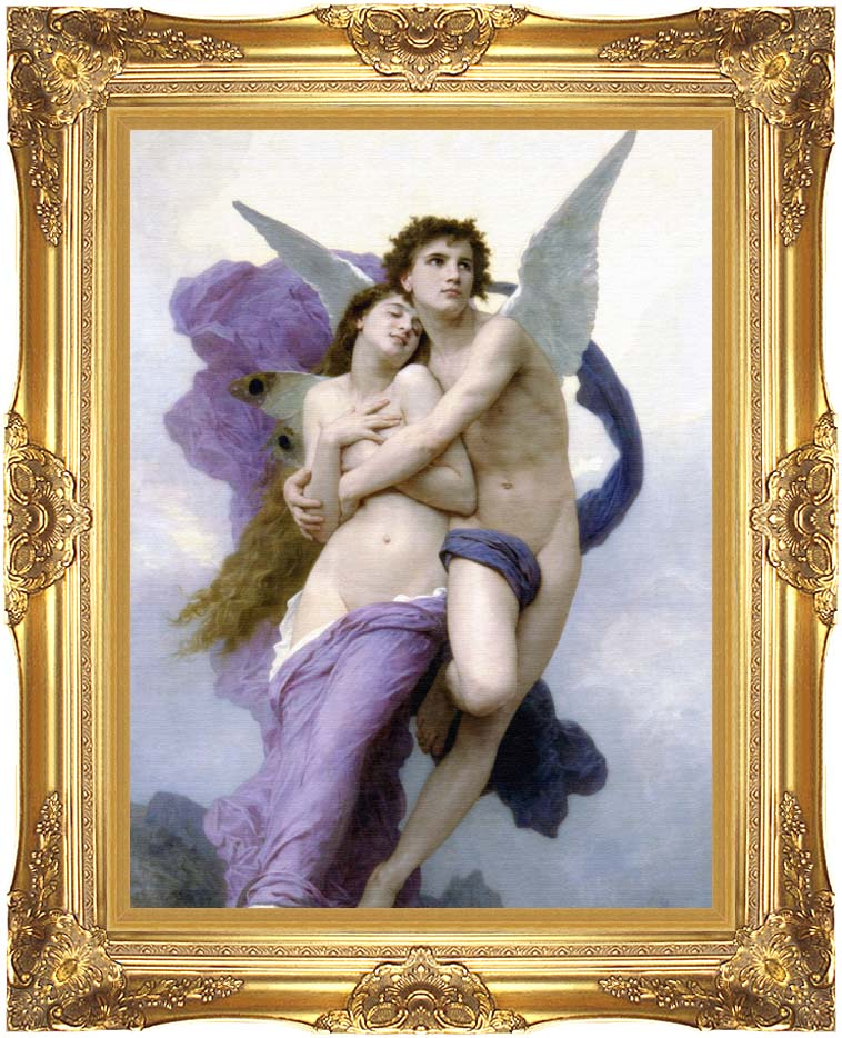 William Bouguereau The Abduction of Psyche with Majestic Gold Frame