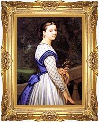 William Bouguereau The Countess De Montholon canvas with Majestic Gold frame