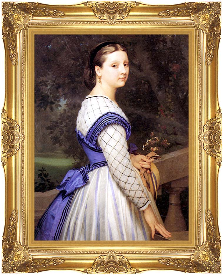William Bouguereau The Countess de Montholon with Majestic Gold Frame