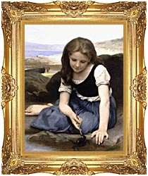 William Bouguereau The Crab canvas with Majestic Gold frame