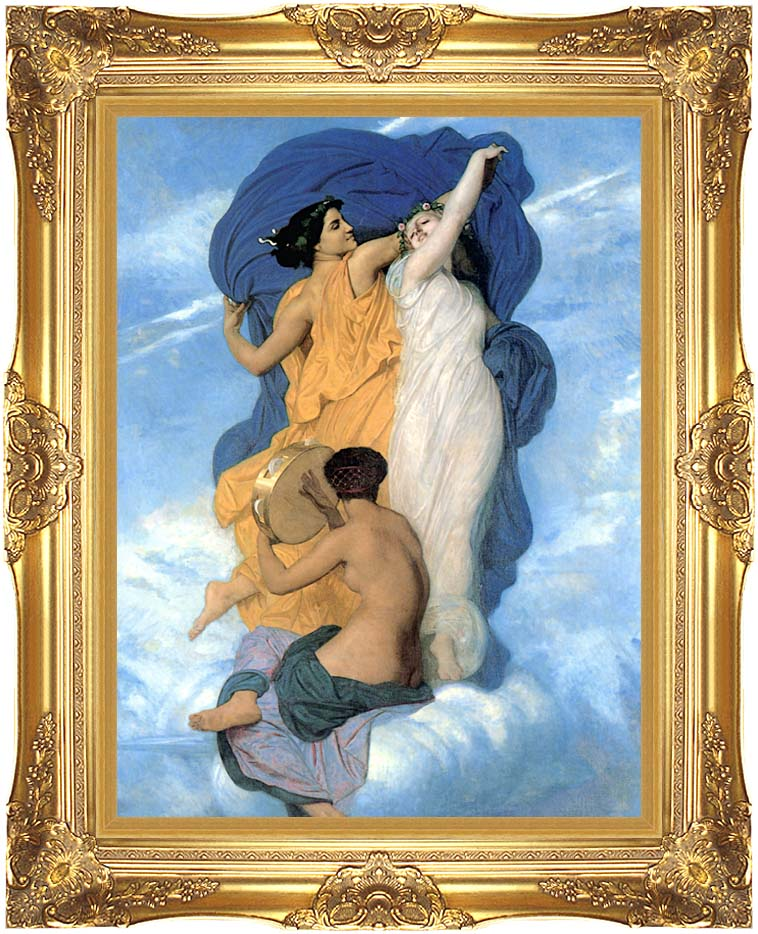 William Bouguereau The Dance with Majestic Gold Frame